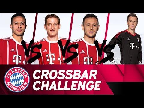 FC Bayern Crossbar Challenge 🔴⚪ w/ Thiago, Rudy, Rafinha & Früchtl 💪