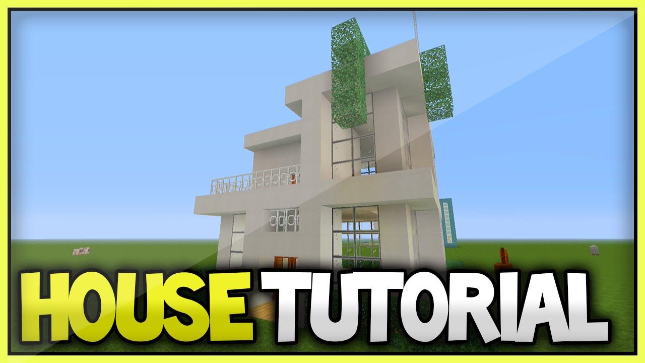 Minecraft 12x12 modern house tutorial part 2 xbox360 for Modern house 8 part 3