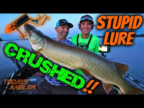 STUPID LURE CRUSHED By Musky!! - Feat. Chris Bulaw - Todays Angler