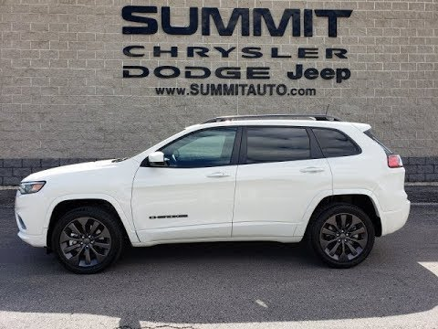 SOLD! 9J251A 2019 JEEP CHEROKEE HIGH ALTITUDE LIMITED 4X4 TURBO WHITE PEARL FOND DU LAC