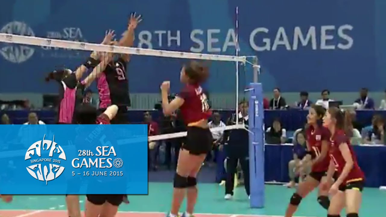volleyball women s team thailand vs indonesia highlights day 9 28th sea games singapore 2015