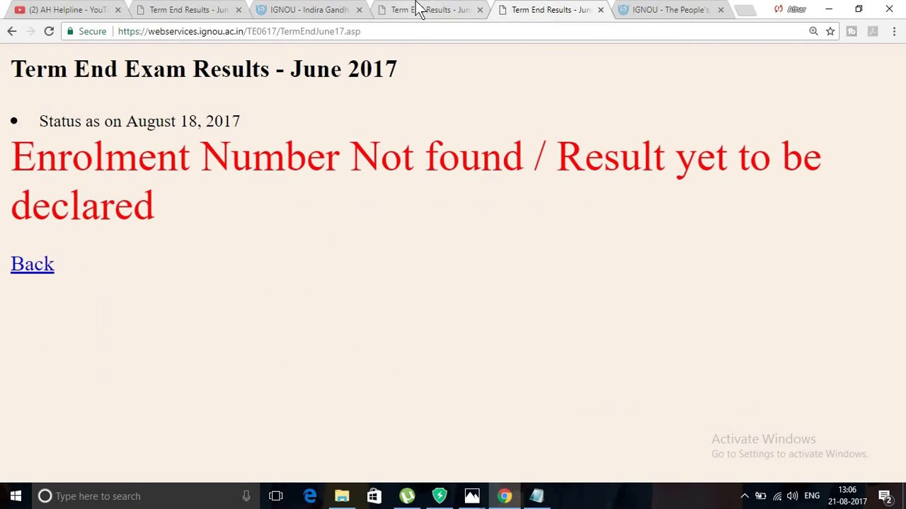 Latest update ignou june 2017 result check your result youtube latest update ignou june 2017 result check your result sciox Images