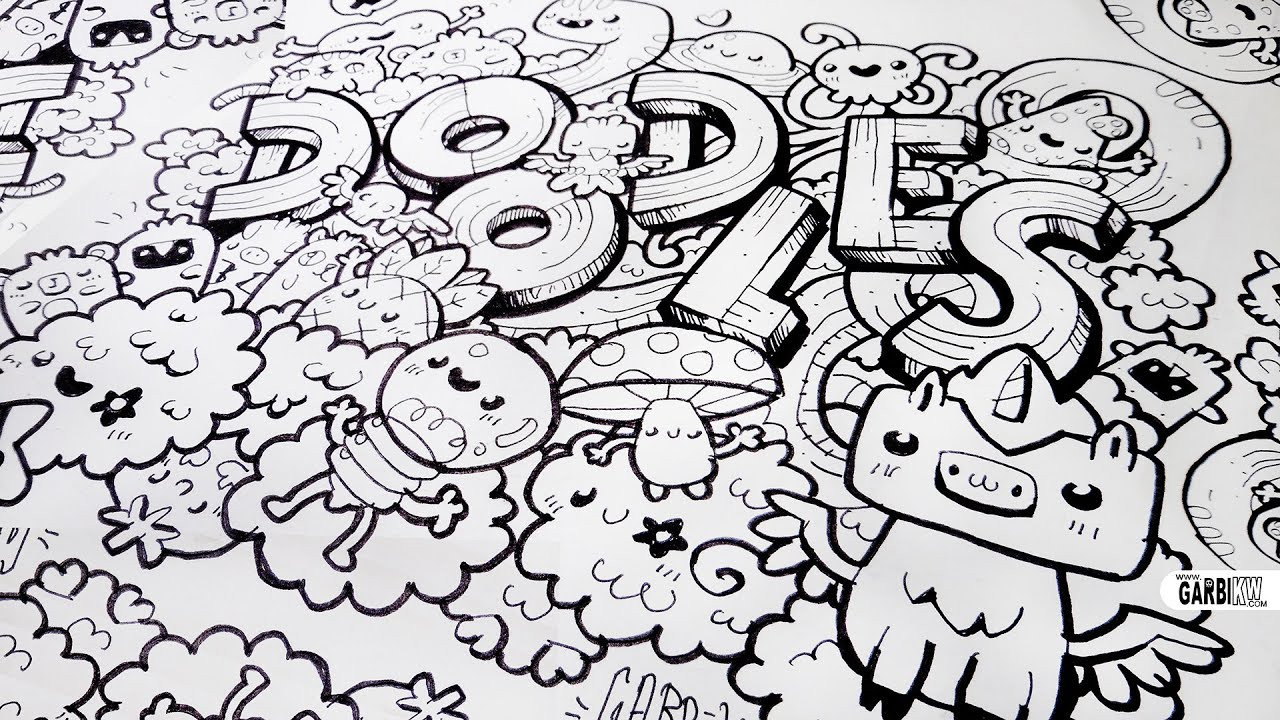 Kawaii doodle how to draw kawaii and letters by garbi kw youtube altavistaventures Images