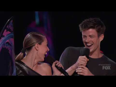 Grant Gustin and Melissa Benoist at TeenChoice Awards