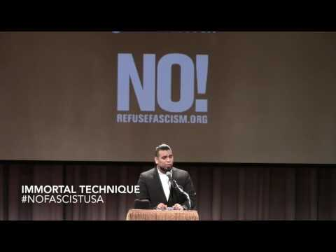 #NoFascistUSA Emergency Meeting, Immortal Technique