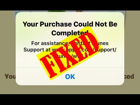 Itunes purchase cannot be completed