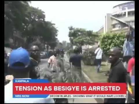 Uganda arrest of opposition leader Dr. #Besigye. Copyright NBS.