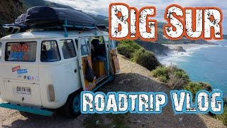 Travel VLOG(3) BIG SUR, California  - Road Trip The Americas in a VW BUS