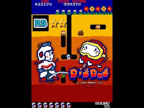 1982 [60fps] Dig Dug 4452990pts Hardest Round256