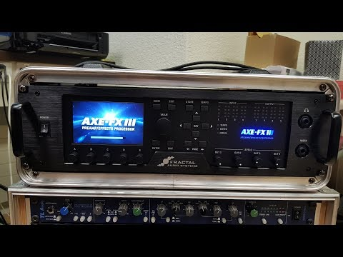 Unboxing the AXE FX 3 Fractal Audio Guitar Processor