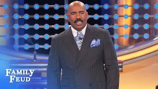If THAT'S up there... Steve's WALKING OUT | Family Feud