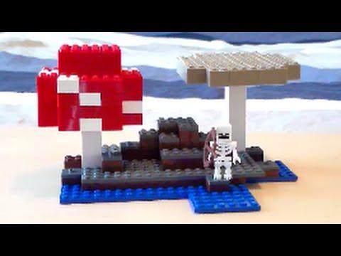 Lego Minecraft Mushroom Biome Tutorial - YouTube