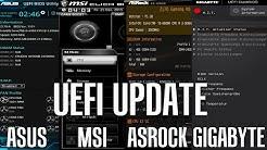UEFI / BIOS Update Anleitung - MSI | ASUS | Gigabyte | AsRock