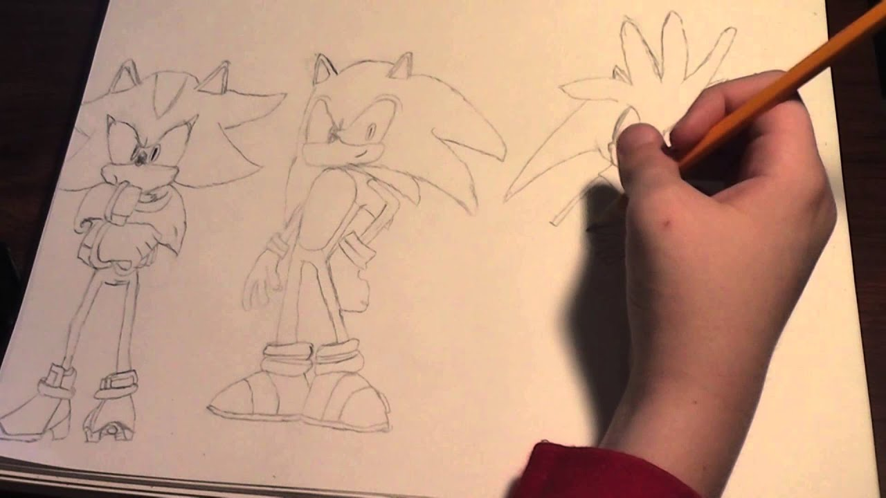 How to draw Sonic Shadow and Silver  YouTube