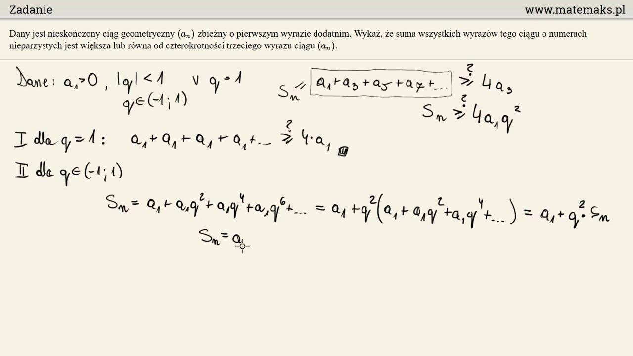 Zadanie dowodowe z ciągiem geometrycznym