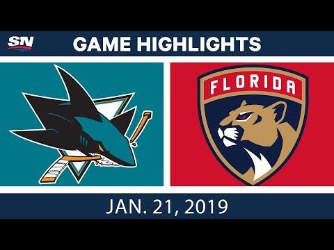 NHL Highlights | Sharks vs. Panthers - Jan. 21, 2019