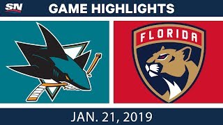 NHL Highlights | Sharks vs. Panthers - Jan. 21, 2019