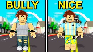 BULLY To NICE In Roblox Brookhaven..