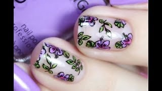 Beautiful FLOWER nails - The Best NEW Nail Art Designs #32