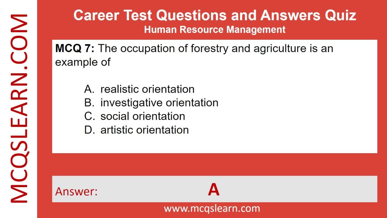 career test free