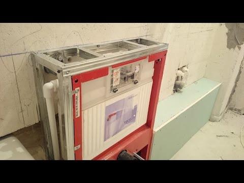 видео: гипсокартон, как обшить инсталляцию (раму для сантехники). plasterboard.
