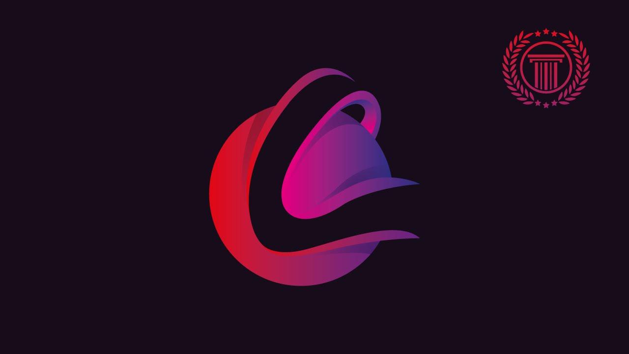 Logo Design Illustrator How To Make Letter Logo Use Circle Object In Adobe Illustrator Youtube