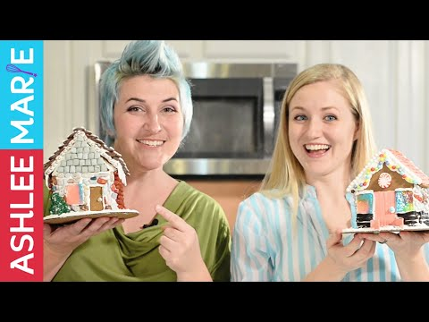 How to cut and bake Gingerbread Houses - with guest Pins and Things