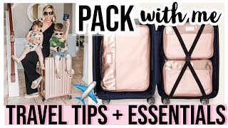 PACK WITH ME! TRAVEL ESSENTIALS + PACKING TIPS + ORGANIZED CHECKLISTS FROM A PRO | Brianna K