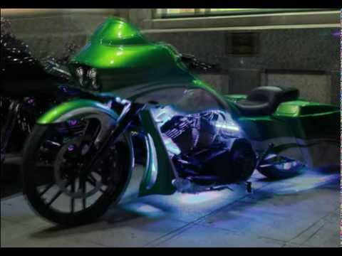 Ground Effect Led Lights On A Harley Bagger Bike Youtube