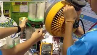 磁浮軸風力發電,第四代發電機發電電壓最高 16V。 thumbnail