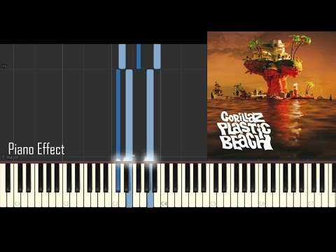 Gorillaz - Melancholy Hill (Piano Tutorial Synthesia)