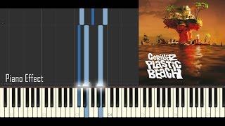 Gorillaz - Melancholy Hill (Piano Tutorial Synthesia)
