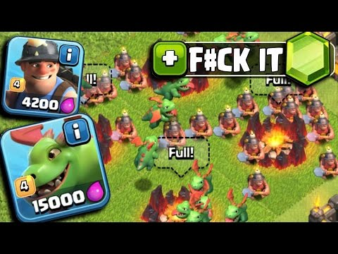 Clash Of Clans - GEMMING NEW UPDATE! UNLOCKING MINER & BABY DRAGON (CoC Buying May Update 2016)
