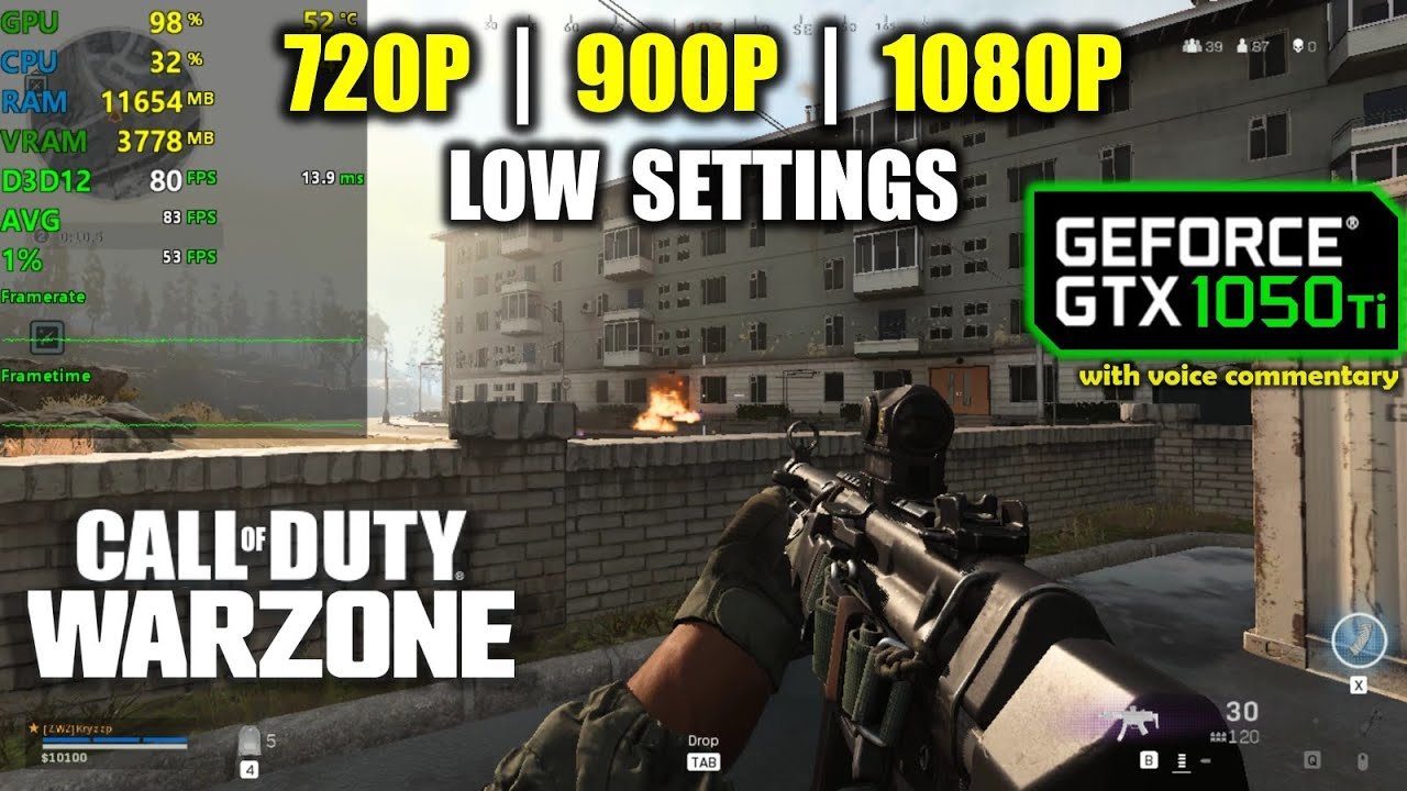 Gtx 1050 Ti Call Of Duty Warzone Battle Royale 1080p 900p