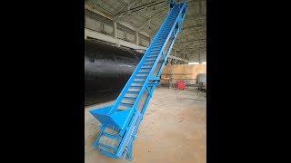видео: Конвейер (транспортер) ленточный скребковый для опилок (щепы)