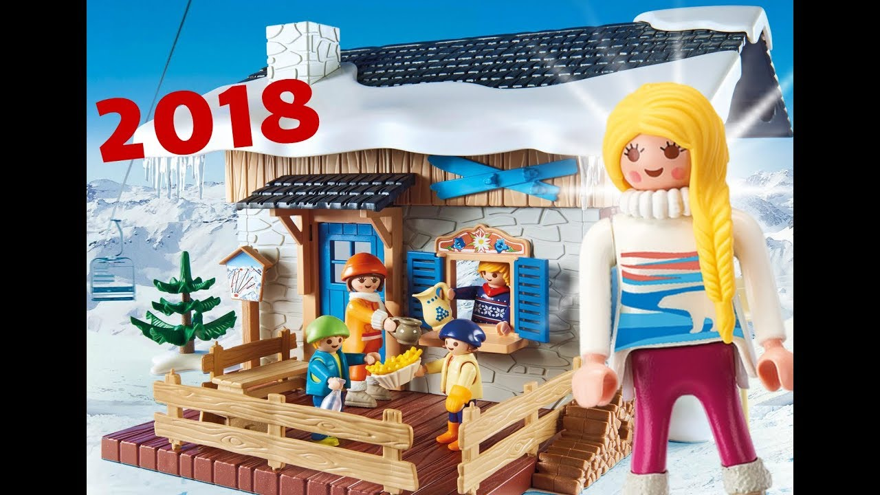 catalogue playmobil noel 2018 Playmobil 2018 Family Fun SPORT D'HIVER   CHALET   NEIGE   SKI  catalogue playmobil noel 2018