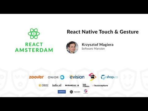 React Native Touch & Gesture - Krzysztof Magiera
