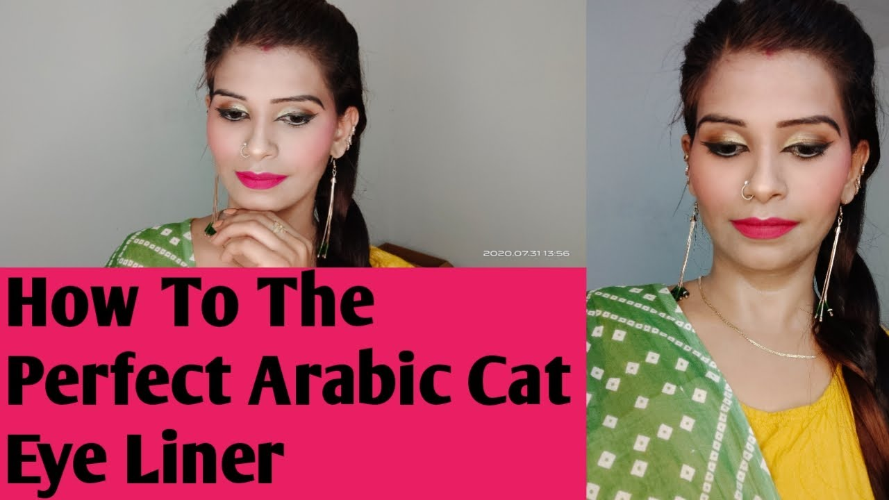 How to apply perfect Arabic cat liner step by step requested video