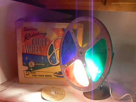 1950s SPARTUS ROTATING COLOR WHEEL 4 Aluminum Christmas Tree - YouTube