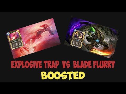 explosive-trap-vs-blade-flurry---velen-boost-!!-*hearthstone*