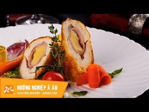 Cách làm gà cuộn phô mai ngon ngất ngây - Học nấu ăn món Âu