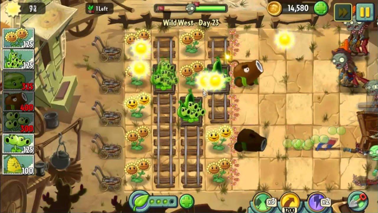 Wild West Day 23 Plants Vs Zombie 2 Walkthrough YouTube