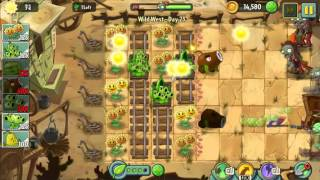 Wild West Day 23 - Plants vs Zombie 2 Walkthrough