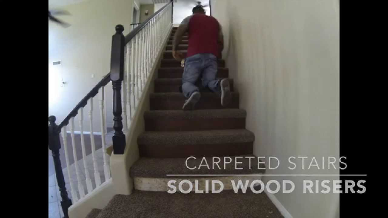 Enmar Wood And Carpet Staircase Youtube | Carpet Risers For Stairs | Hardwood Floors | Staircase Makeover | Hardwood | Open Riser | Stair Railing