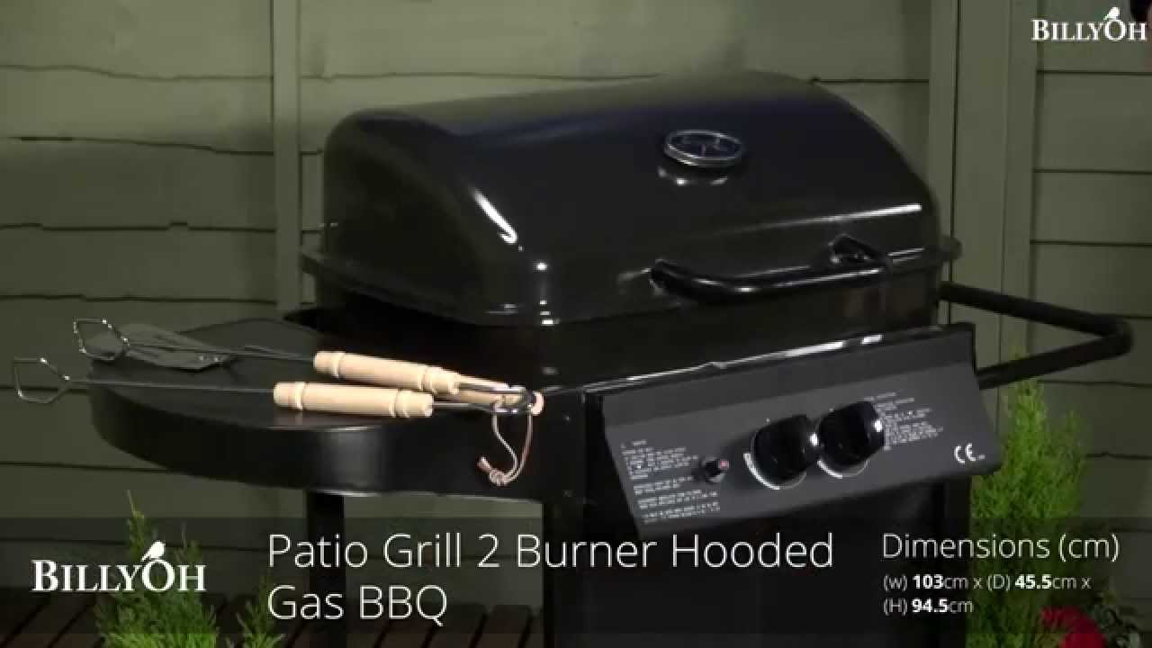 billyoh patio grill 2 burner gas bbq youtube