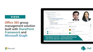 Community demo - Office 365 group management solution using SharePoint Framework and Microsoft Graph