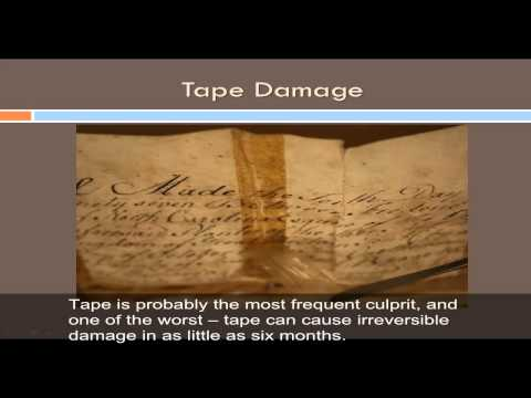 General Paper Preservation Tips