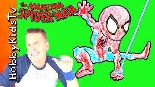 Easy Quick Draw Spiderman with HobbyDad! Arts N Crafts by HobbyKidsTV