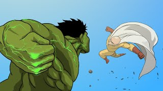 Hulk Vs. Saitama Animation (full Version)  Taming The Beast