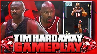 DIAMOND TIM HARDAWAY GAMEPLAY! THIS SUPER SMALL PG IS NOT USEABLE! NBA 2K19 MYTEAM